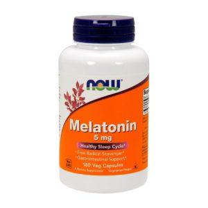 NOW Melatonin 5 mg 180 vcaps