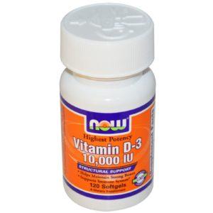 NOW Vitamin D-3 10000 IU 120 sgels