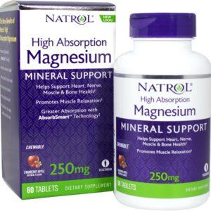 Natrol HA Magnesium Жевательный 60 таб клюква-яблоко