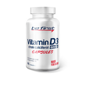 Be First Vitamin D3, 60 caps