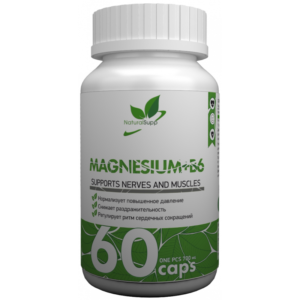 NaturalSupp Magnesium B6 60 капс